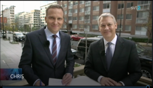 svt2 interview with Christopher C. Hull, Ph.D., on Election Day 2016 - screen shot